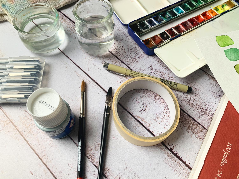 Matériel aquarelle pour débutant